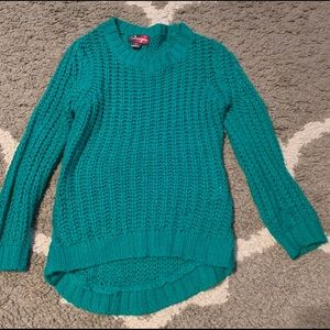 4T cable knit sweater green girls